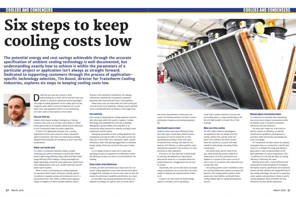 Six steps to keep cooling costs low